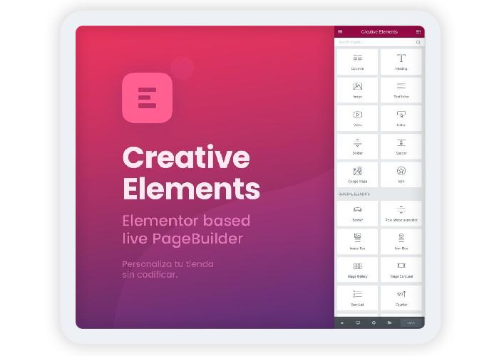 Crear una landing page con elementor creative elements en wordpress