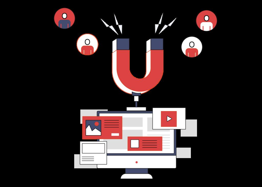 ilustración de herramientas para hacer inbound marketing