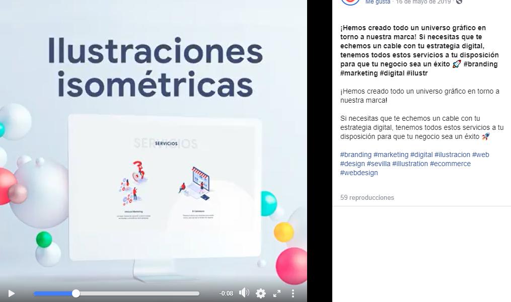 Captura de pantalla sobre Facebook de IberoMEDIA
