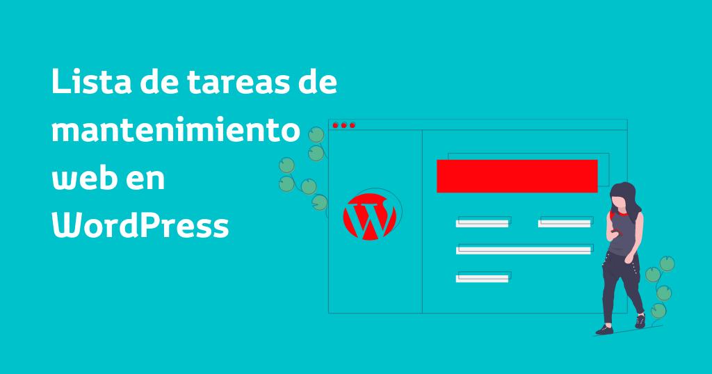 Tareas de mantenimiento web en WordPress